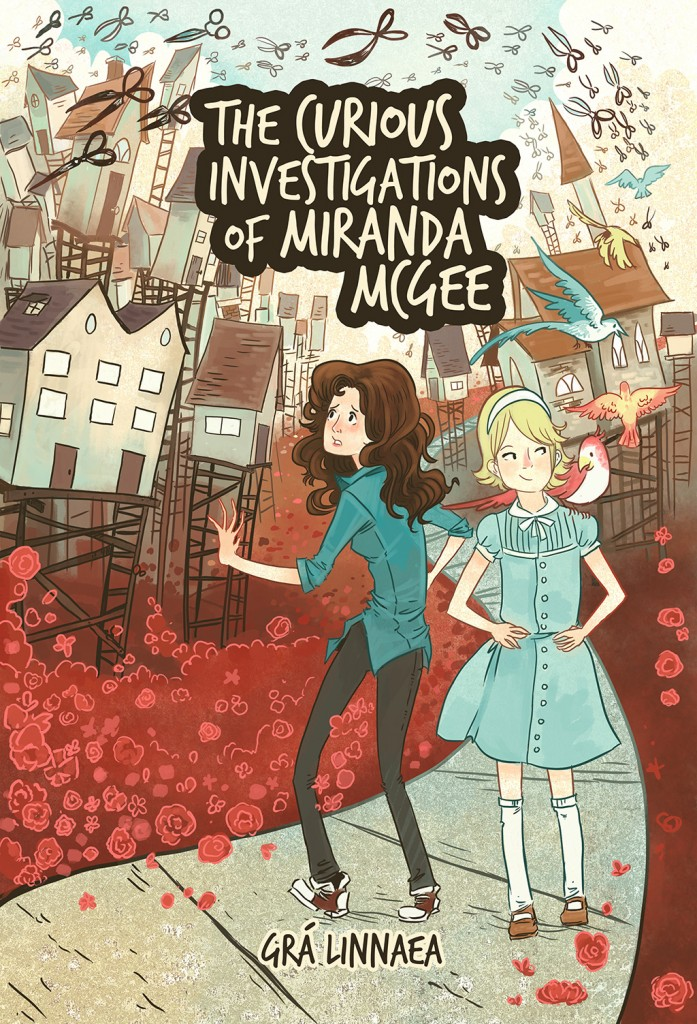 """The Curious Investigations of Miranda McGee"" (Cover by Robin Robinson - www.robinillustration.com )"